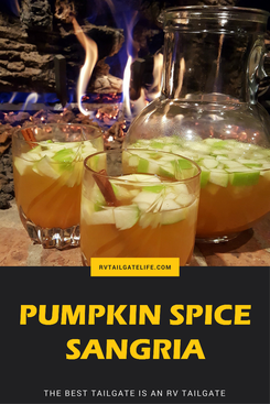 Pumpkin Spice Sangria is Fall in a Cup - RV Tailgate Life #falldrinks