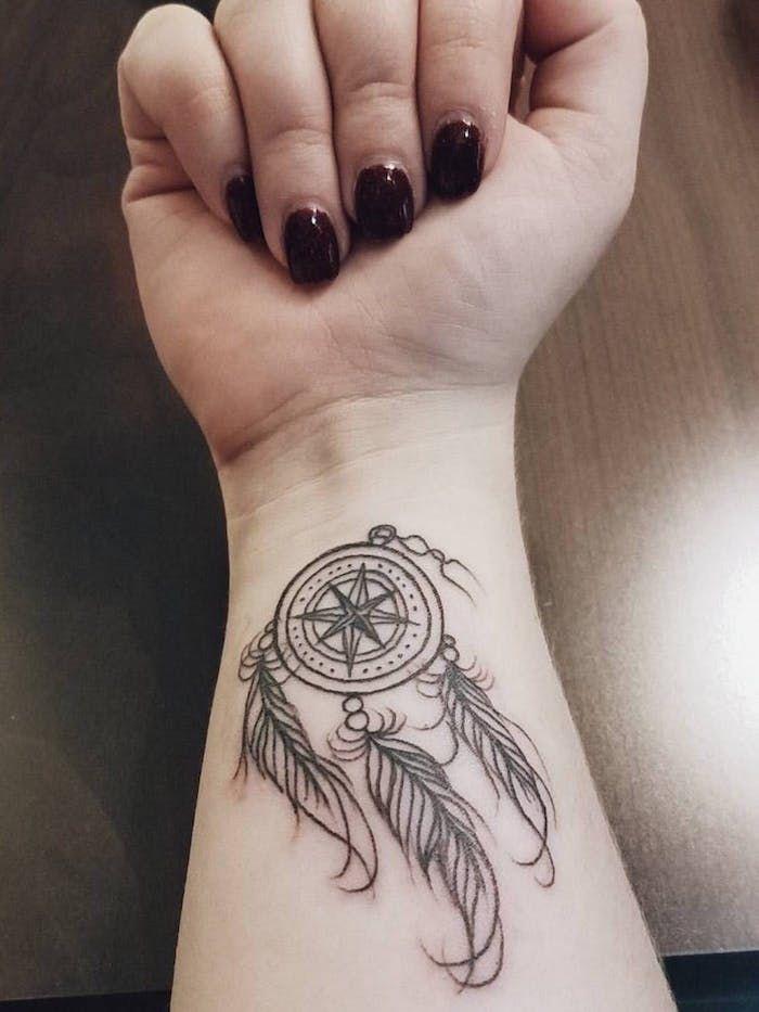 Pin By Rosa Ferreira On Tatts In 2020 Dream Catcher Tattoo Feather Tattoos Feather Tattoo Black