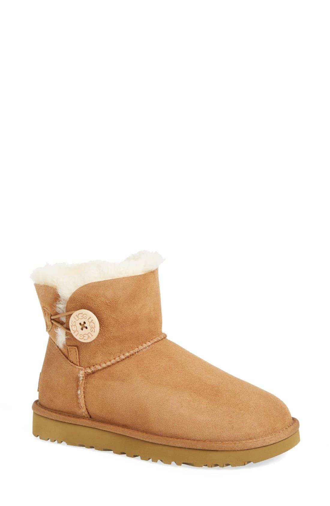 408063d2acc Women's Ugg Mini Bailey Button Ii Genuine Shearling Boot, Size 5 M ...