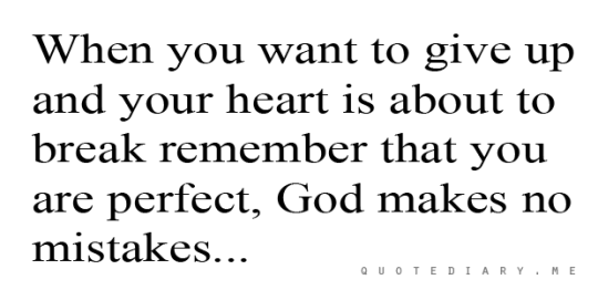 God made you perfect!!