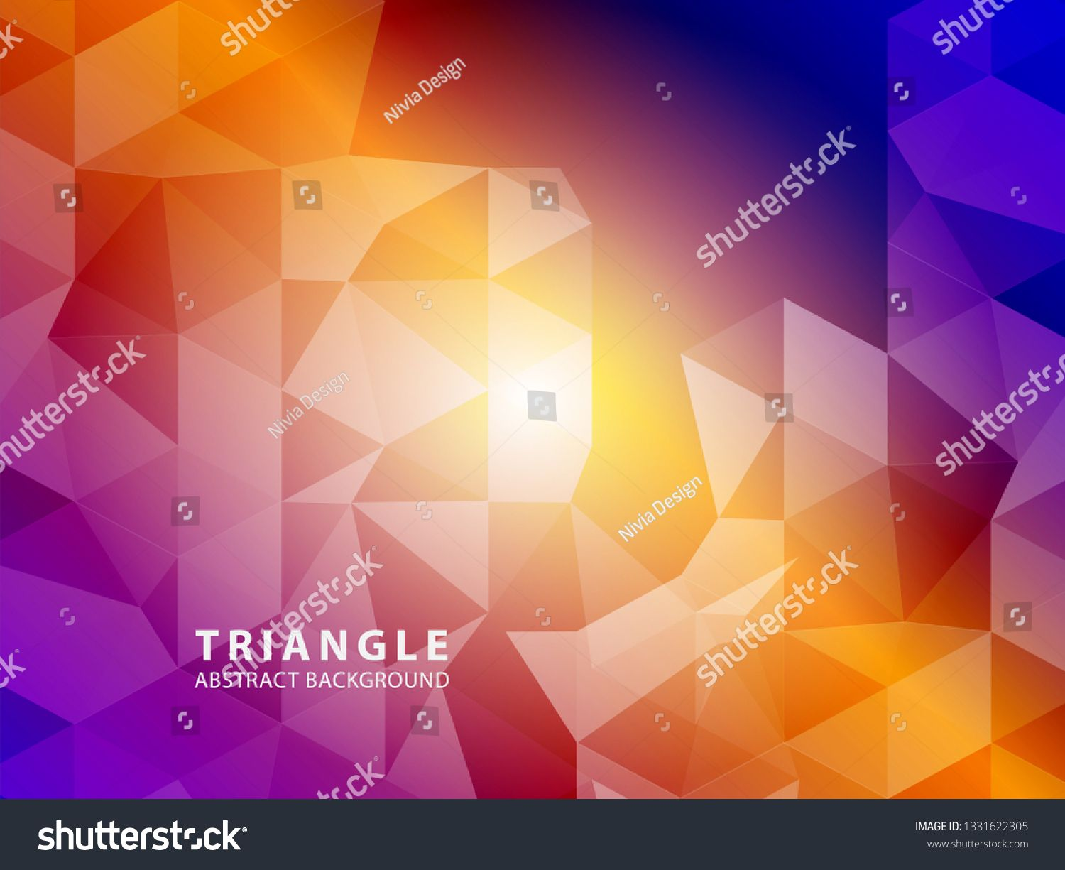 Vector Of Modern Abstract Triangular Background Vector