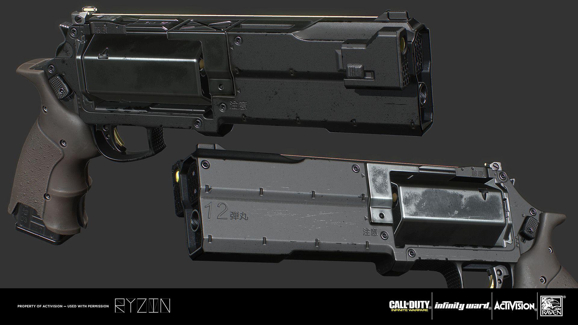 Artstation Hailstorm José Braz Weapons Guns Concept Weapons