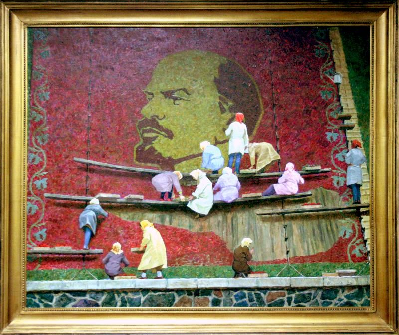 east german / soviet mosaic lenin