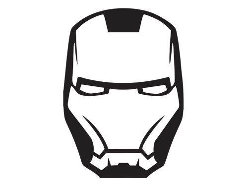 Connu Iron Man - Face Mask 2 - Vinyl Decal @ niftywarehouse.com  IP61