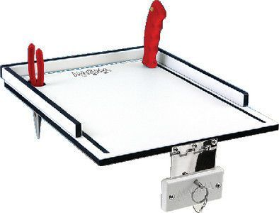 Magma Products Econo Mate Bait and Filet Table, White/Black, 12-Inch