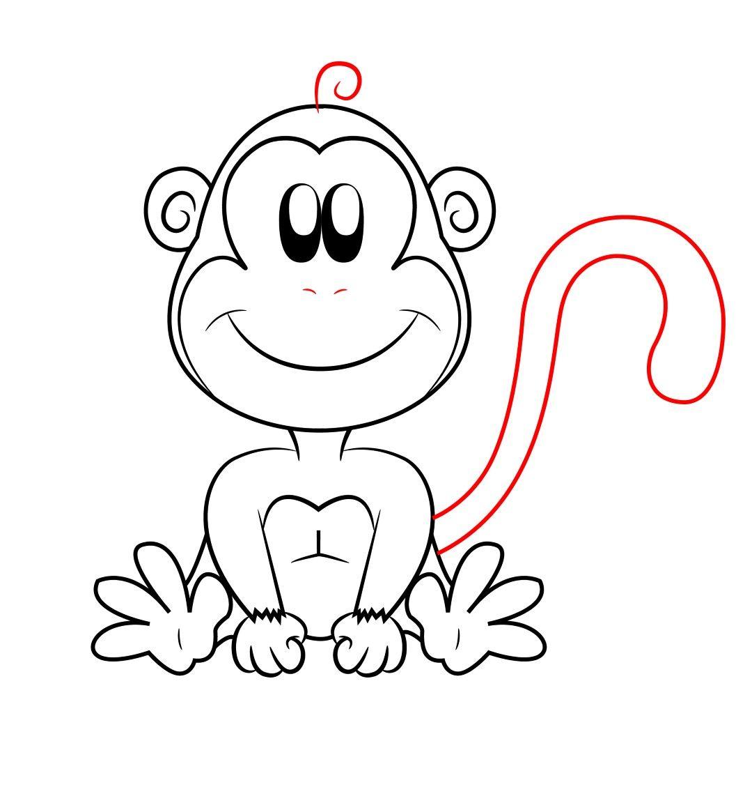 How To Draw A Cartoon Monkey Step 8