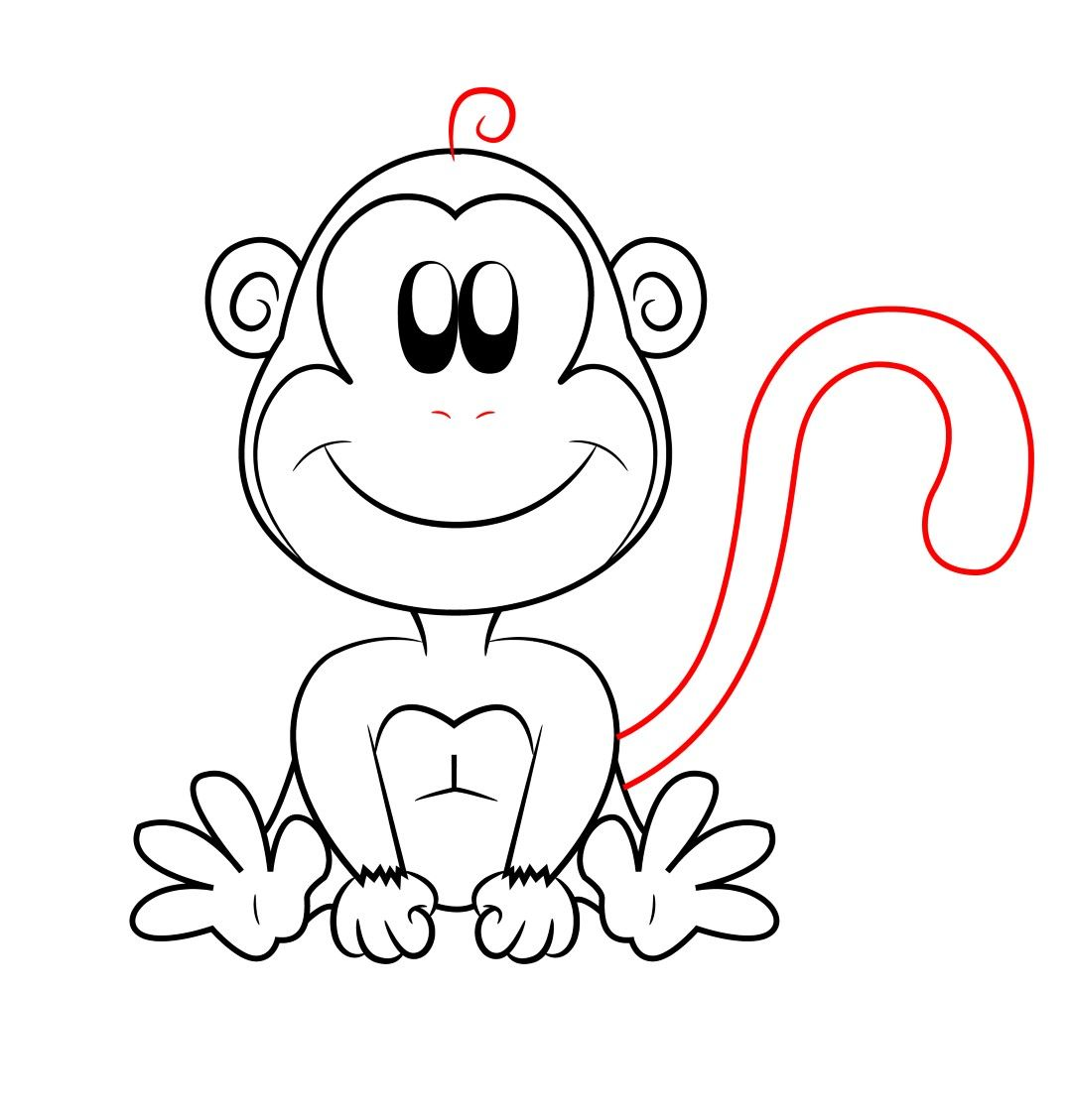 how to draw a cartoon monkey art class pinterest drawings