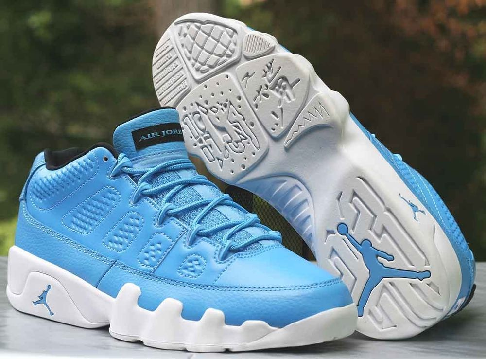 brand new c6907 42275 Nike Air Jordan 9 IX Retro Low Size 9 Pantone University Blue White  832822-401  Nike  BasketballShoes
