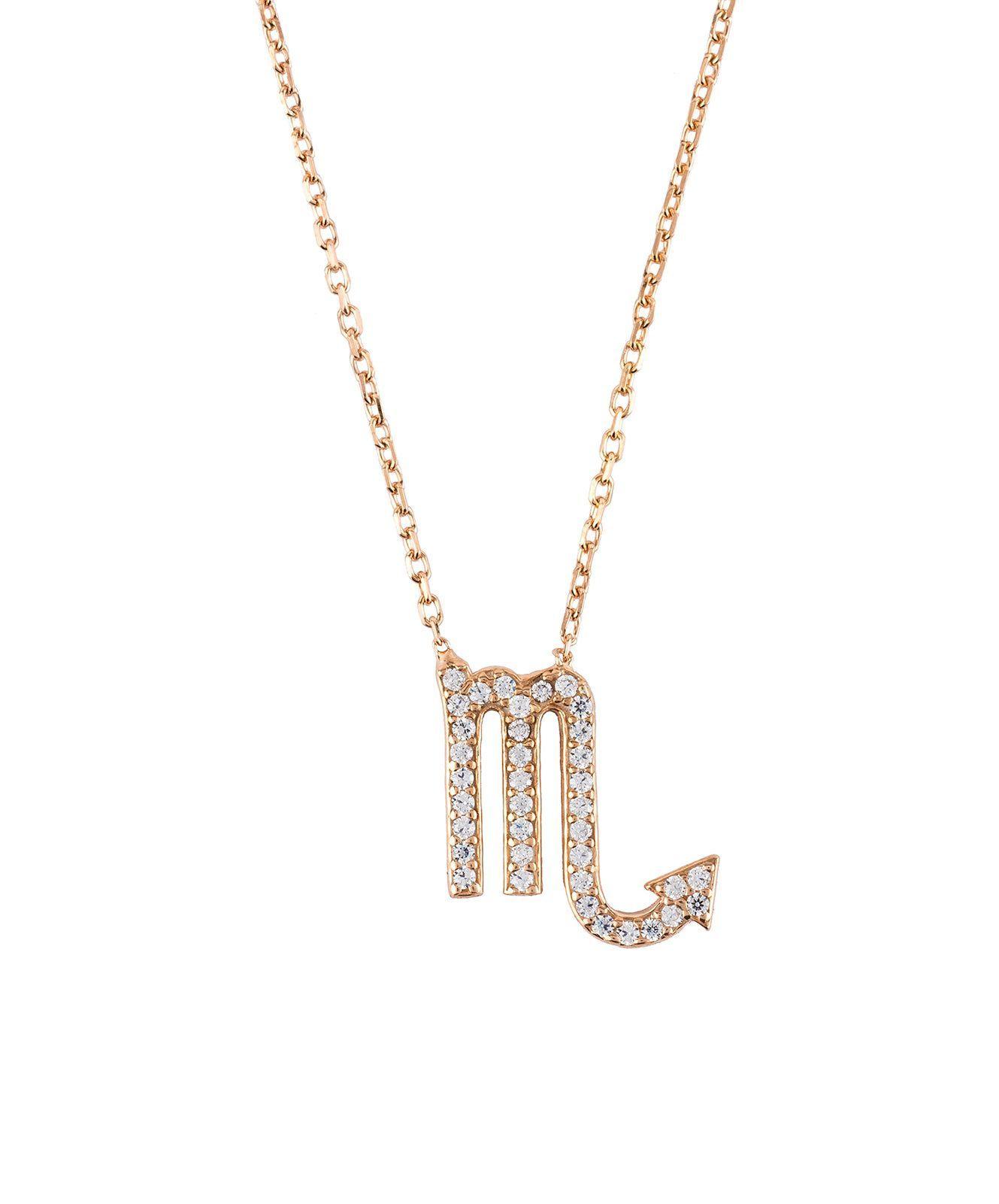Latelita London Libra Zodiac Necklace 67Qr41ZTwn