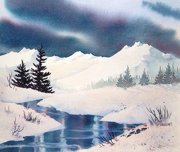 Winter Landscape In 2020 Winter Landscape Landscape Paintings