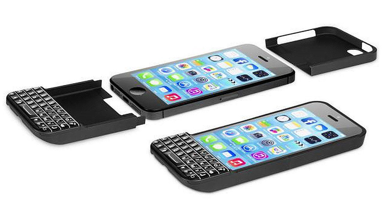 iPhone Gets a Blackberry Makeover Keyboard Attachment