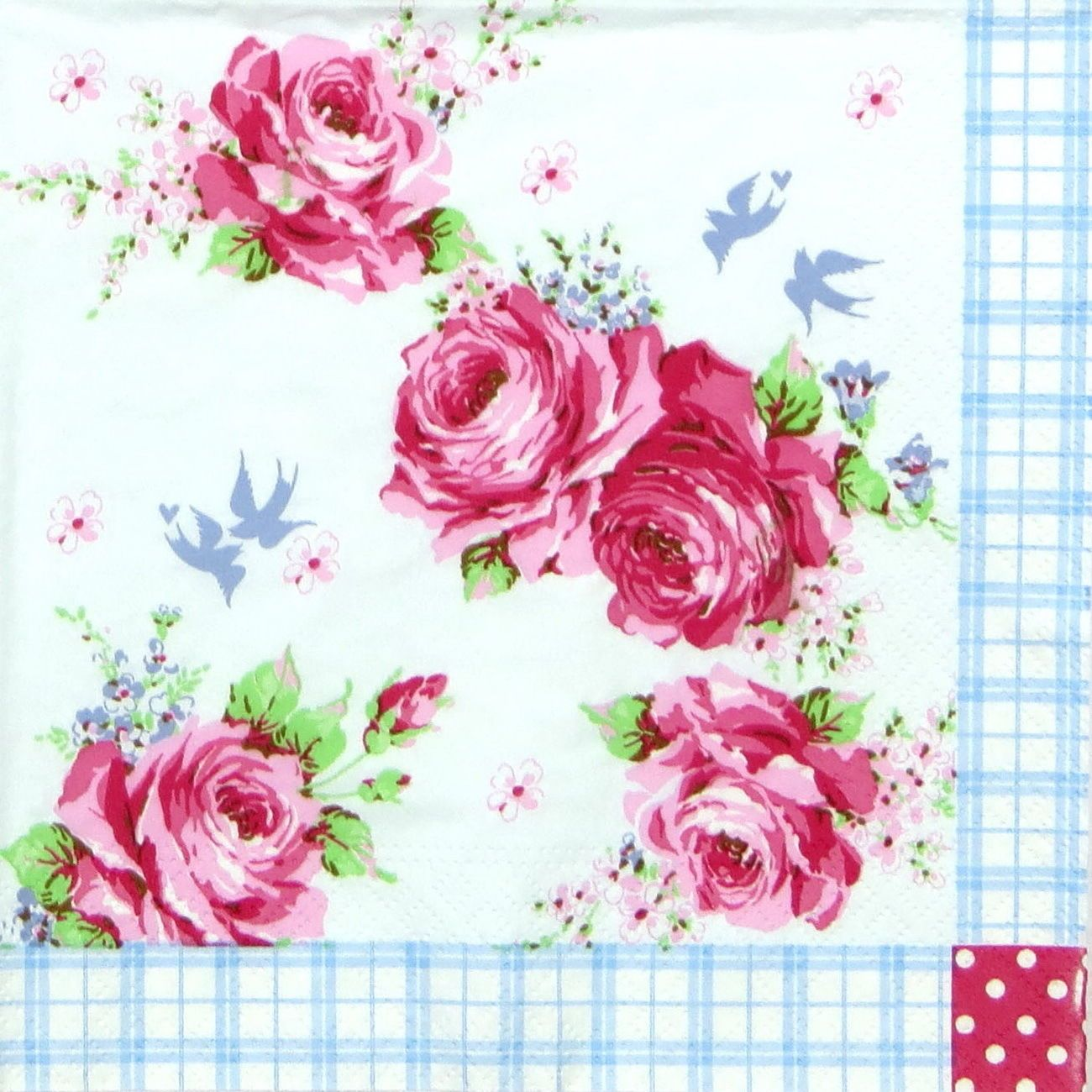 4x Paper Napkins for Decoupage Decopatch Craft Rose Collection