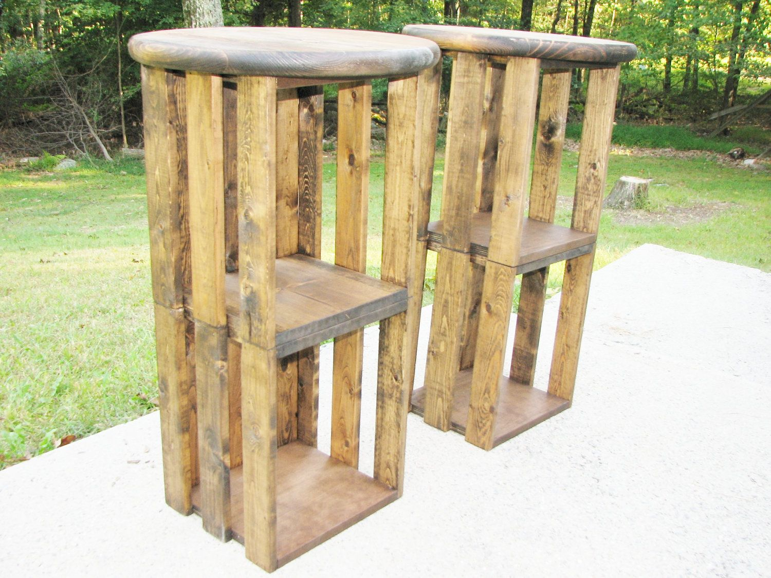 Wood Bar Stool FREE SHIPPING Rustic Industrial Crate
