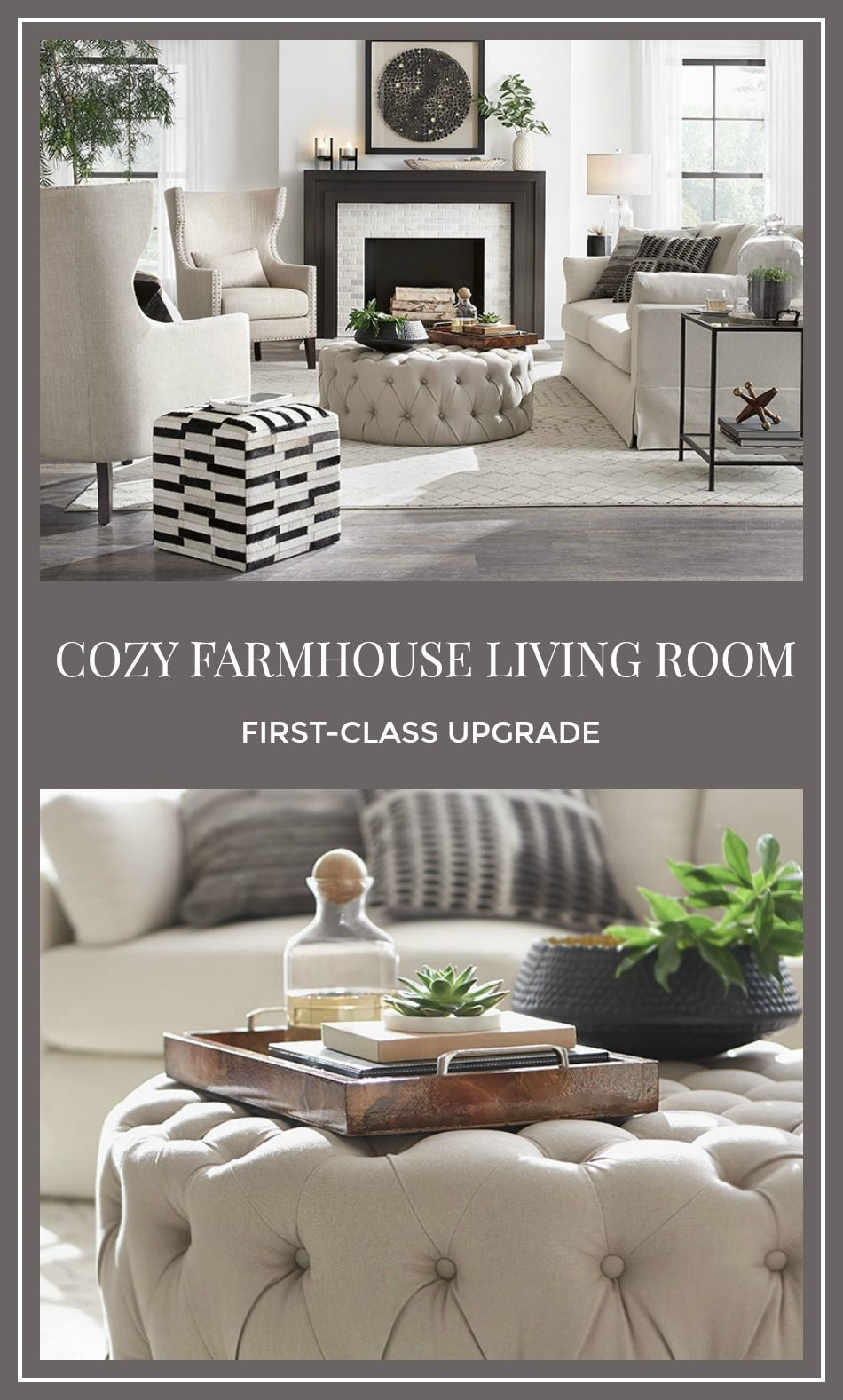 Give A Cozy Farmhouse Living Room A First Class Upgrade
