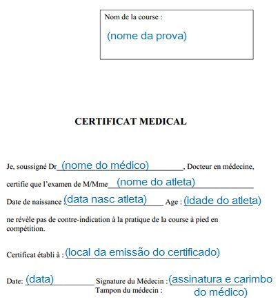 Atestado Medico Item Obrigatorio Para Correr Na Franca Correr