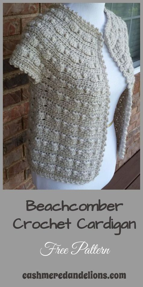 A free crochet pattern, this cardigan could not be any simpler - it is crocheted from the top down and does not require buttons. It's a great transition piece!