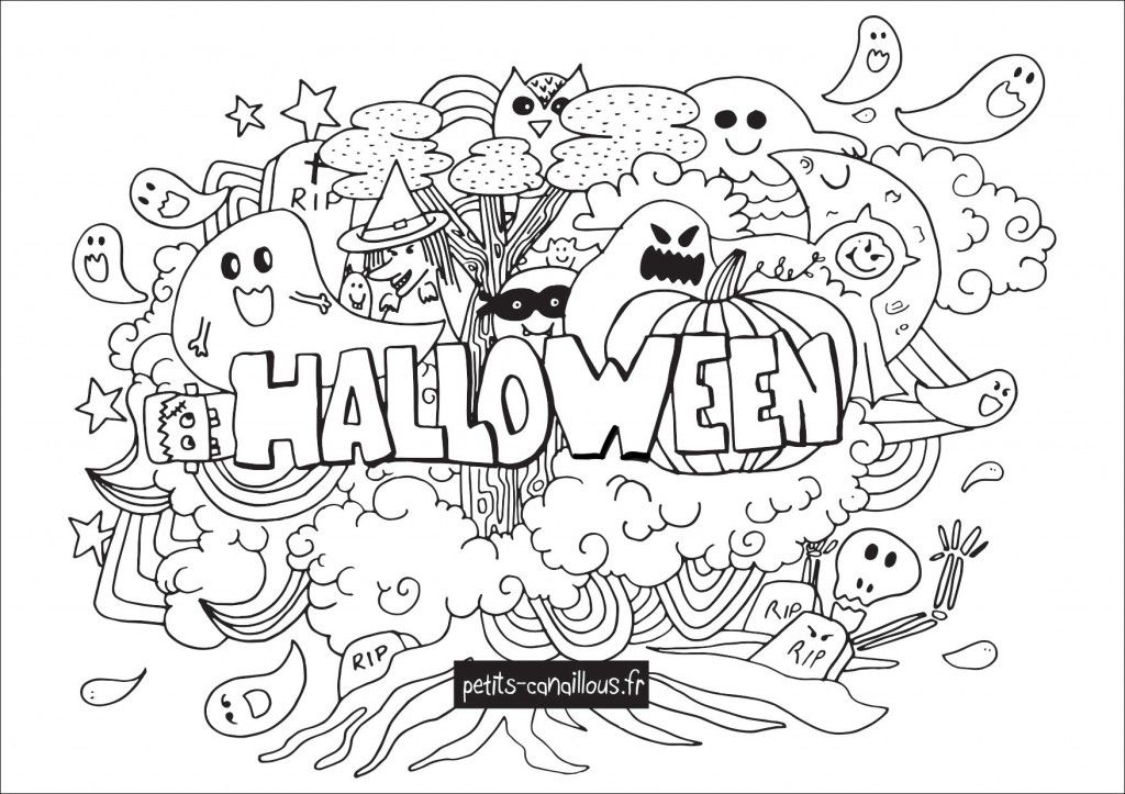Coloriage Halloween A Imprimer Gratuitement De Nombreux