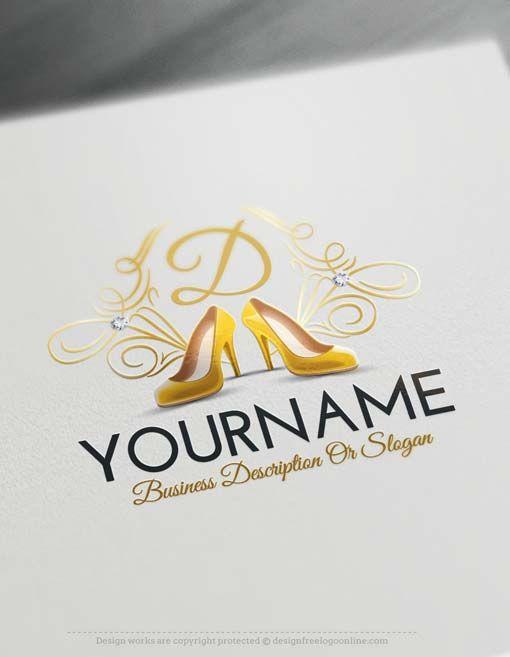 Free Logo Creator Women S Shoes Store Logo Online Free Logo Creator Shoe Logo Design Shoe Logo Ideas