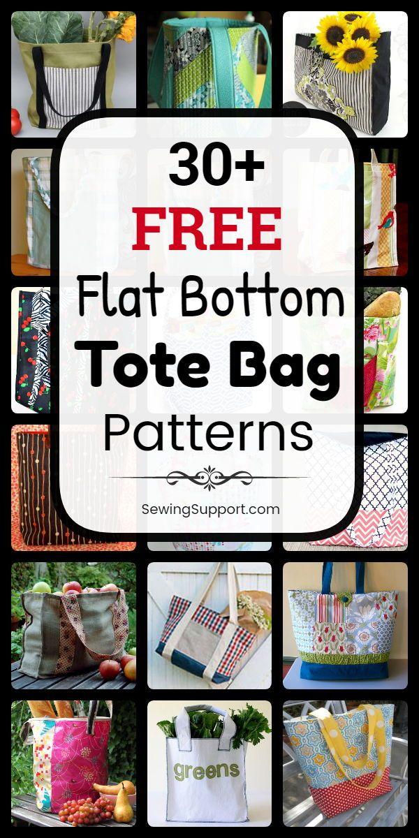 30+ Flat Bottom Tote Bag Patterns