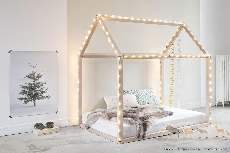 Bonne sœurs House Bed Available on Smallable.  More info http://en.smallable.com/bonnesoeurs  Kid's room. Bedroom design. Smallable. Home decor.
