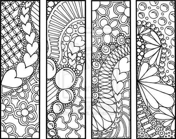 Discover Ideas About Coloring Bookmark
