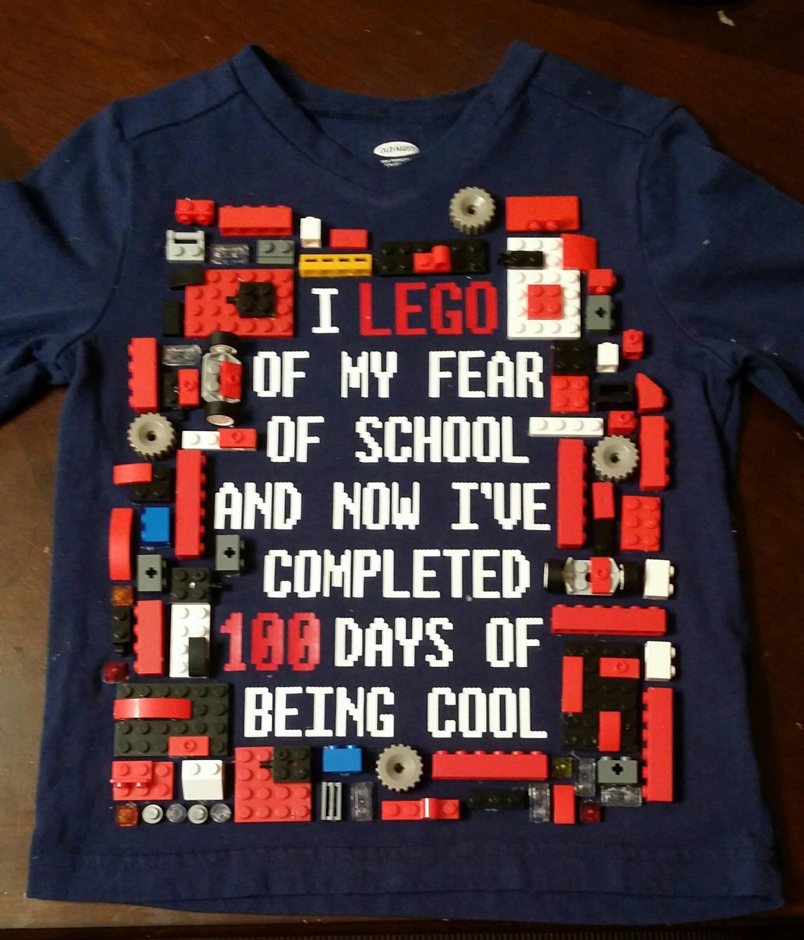 Lego 100 Days Of School Shirt 100 Days Of School