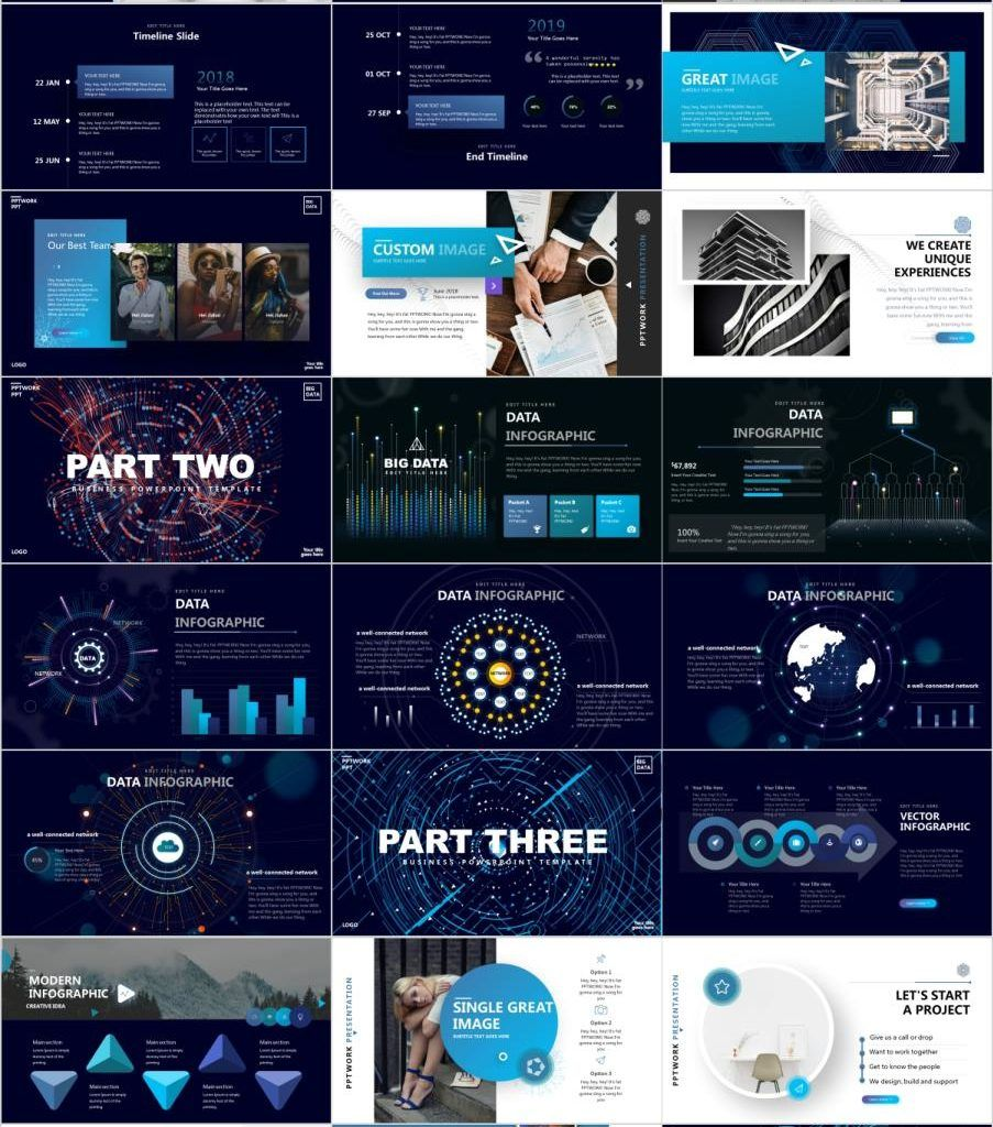 31+ Blue business Plan PowerPoint templates