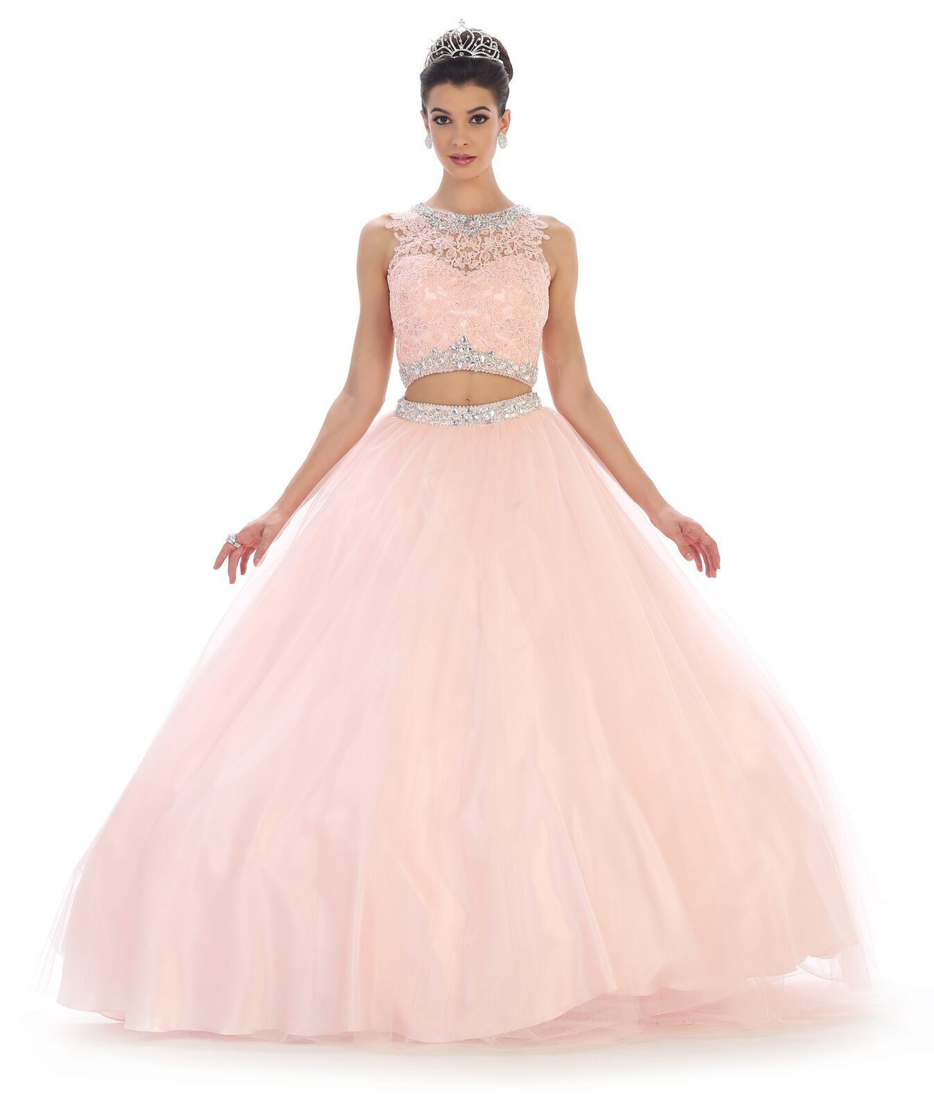 Quinceanera long two piece set quinceanera ball gown sweet dress