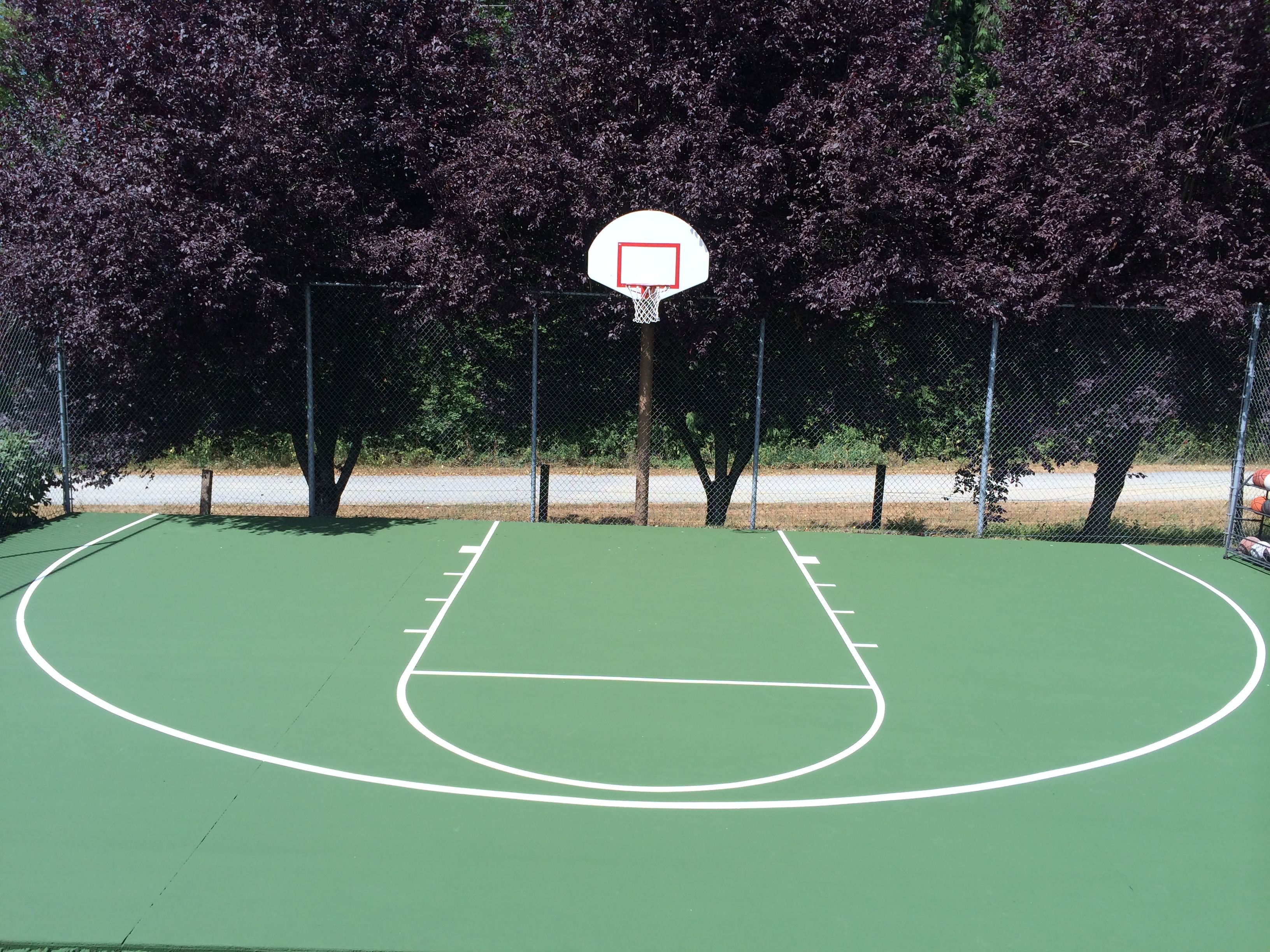 backyard basketball court washington basketball court surfaces