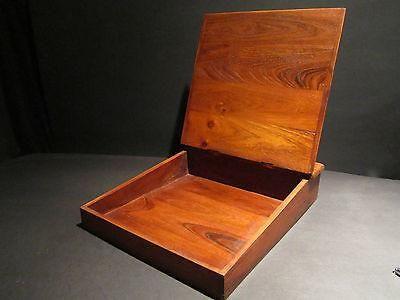 Vintage antique style wood colonial folding lap writing slope desk