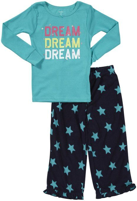 e4f651035 Carter's Girls 2 Pc Rib PJ Pajama Set - Dream Stars - Size 4 | Kids ...