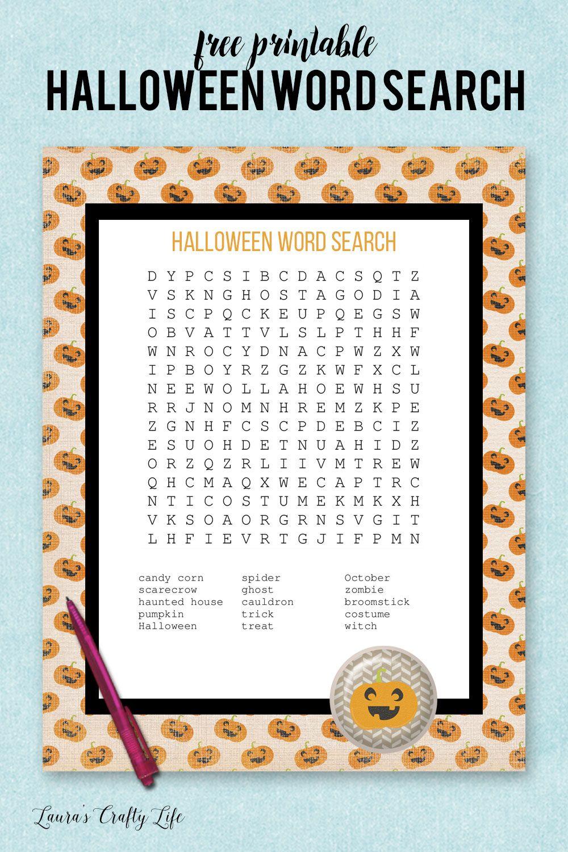 halloween word search   education   pinterest   halloween, halloween