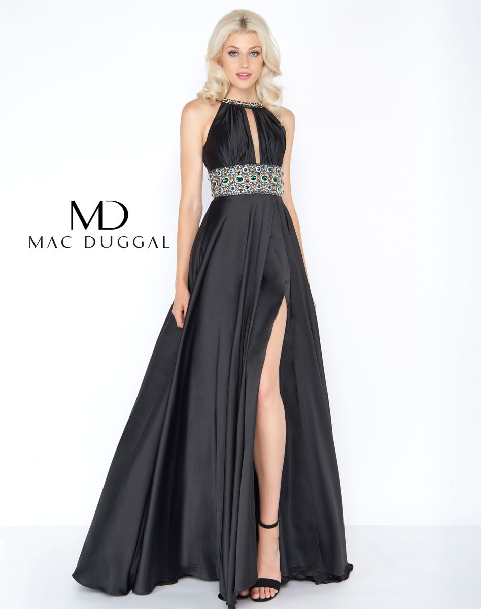 Charmeuse this exquisite gown featuring chunky rhinestones has a