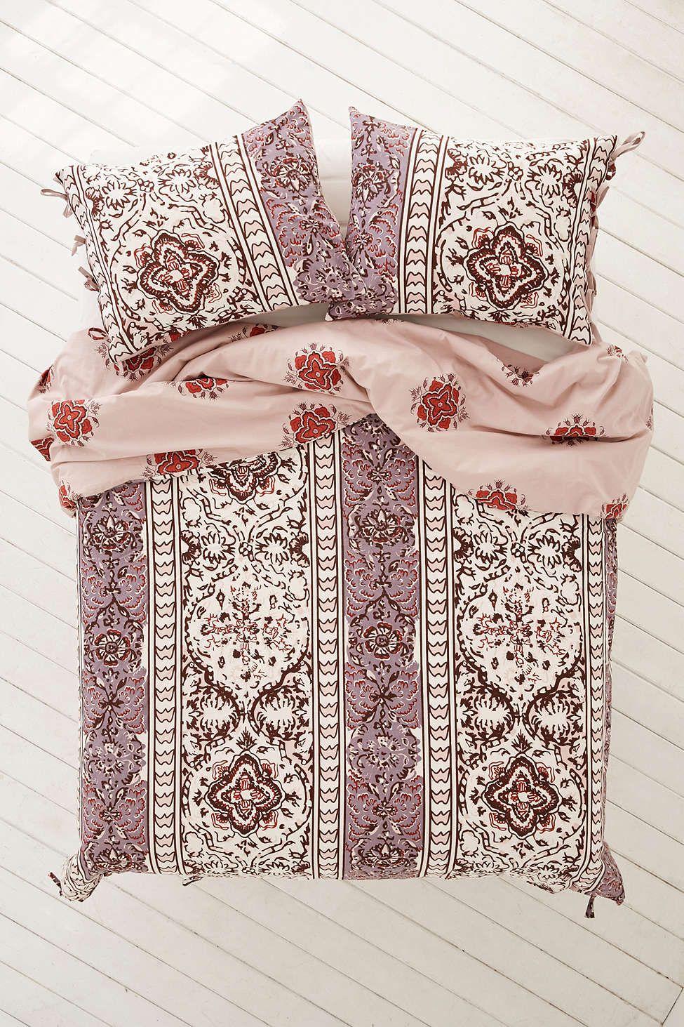 Magical Thinking Boho Stripe Duvet Cover Bedroom Makeover