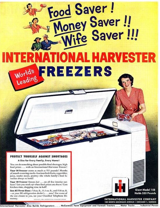 Ihc Deep Freeze One Of A Very Diverse Product Line International Harvester International Harvester Tractors Wife Saver