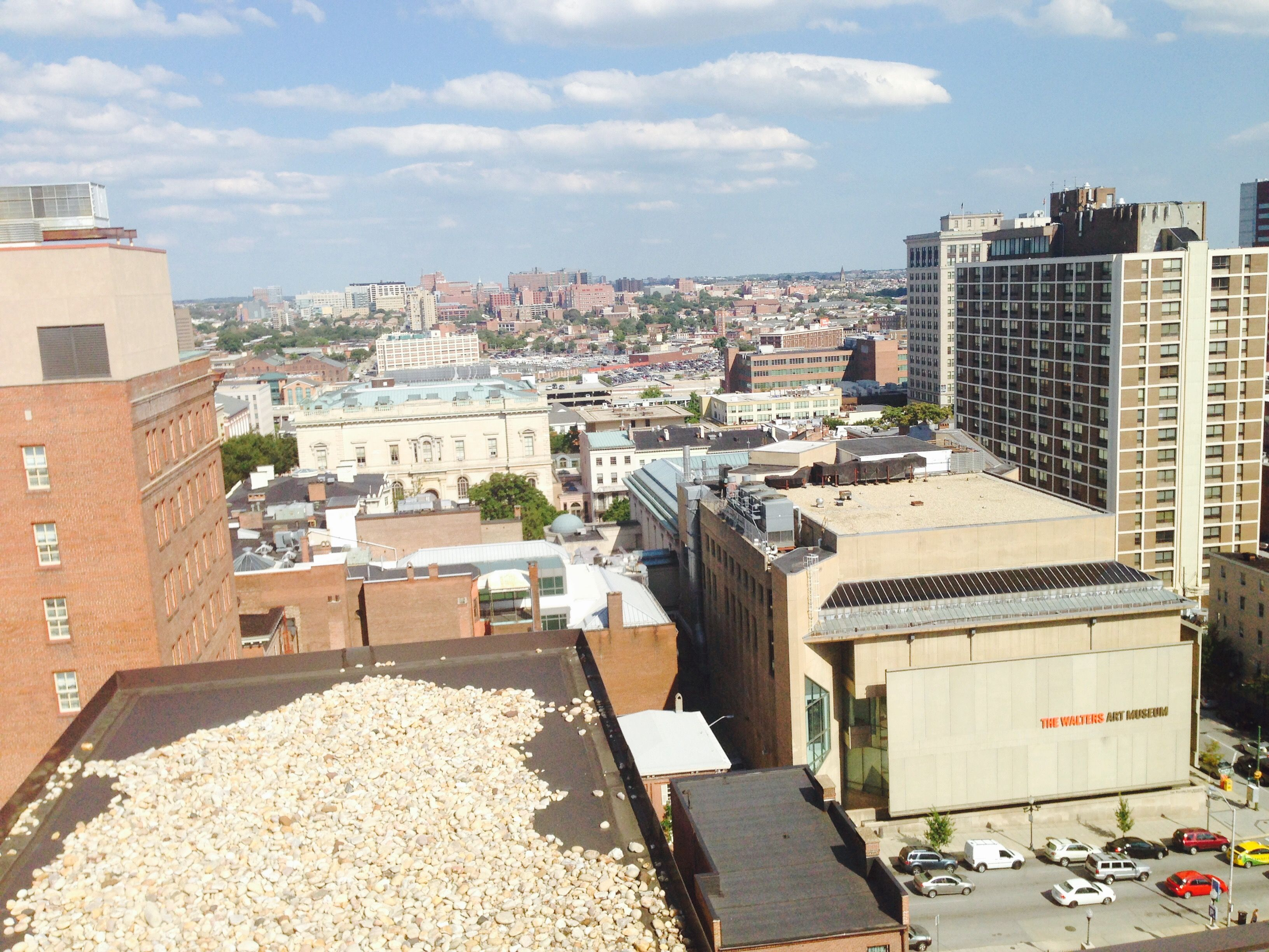 View Of Mount Vernon Baltimore From The Rooftop Deck Of 611 Park Ave Apartments Mount Vernon Baltimore Apartment Rooftop Deck