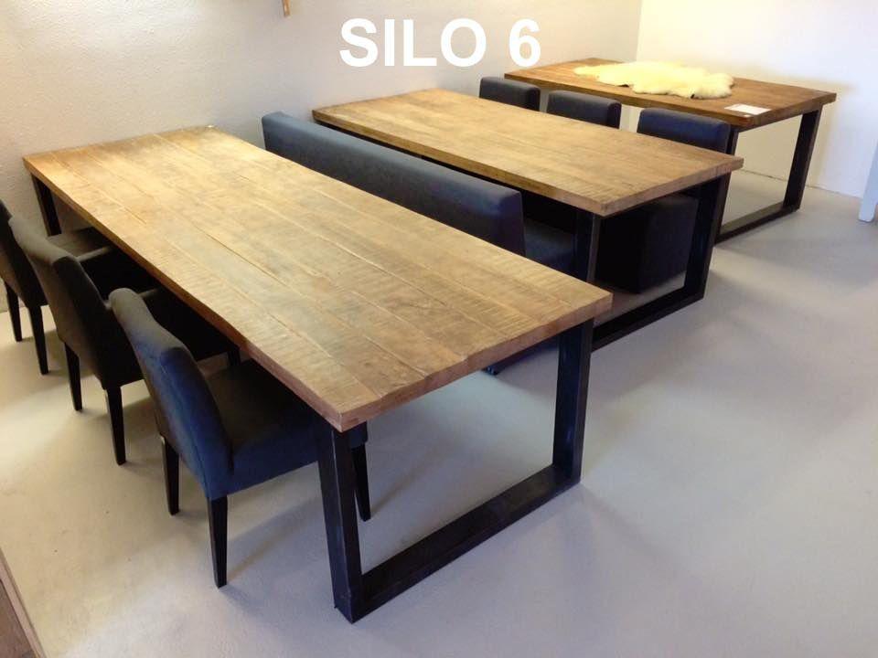Houten Tafels Harderwijk.Eettafel Massief Mango 200 Metalen Poot Eetkamer