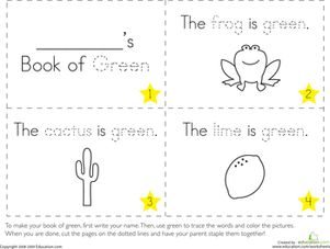 the color green pre k worksheetspreschool worksheets freefree - Preschool Color Worksheets Free