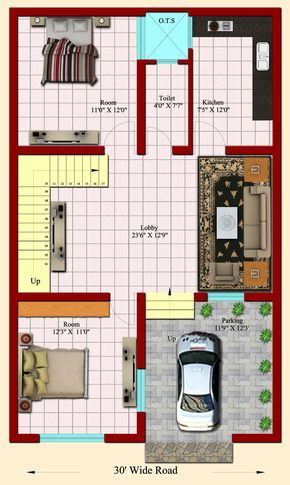Home Plan 25 X 45 Inspirational Entrancing 20 X40 House ...