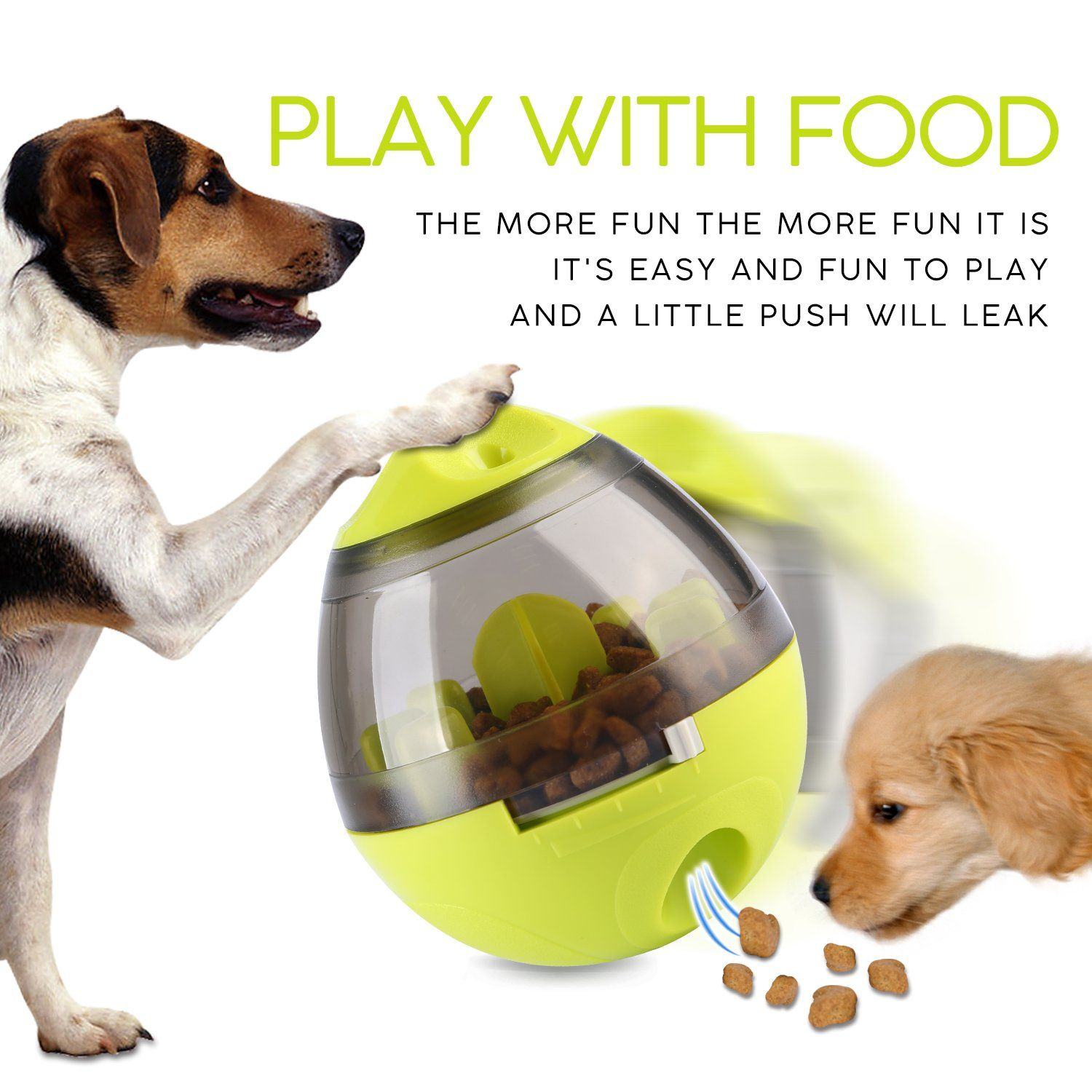 Wellood Dog Treat Dispenser Ball Toy Interactive Treat Dispensing Ball For Dogs Best Dog Toys Dog Toys Dog Treat Dispenser