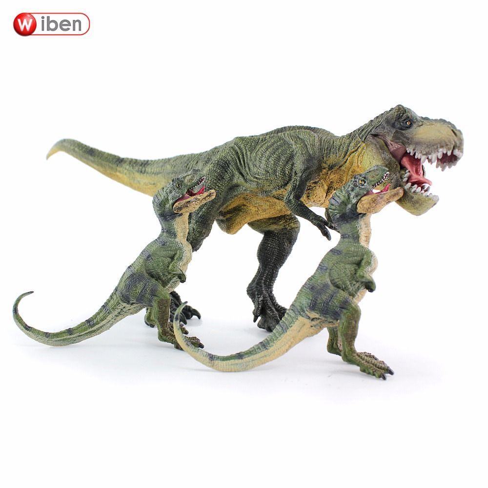 Wiben 3pcs Lot Jurassic Tyrannosaurus Rex T Rex Dinosaur Toys