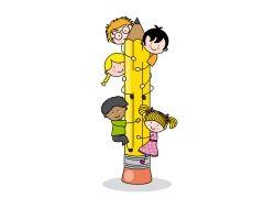 爬铅笔的儿童