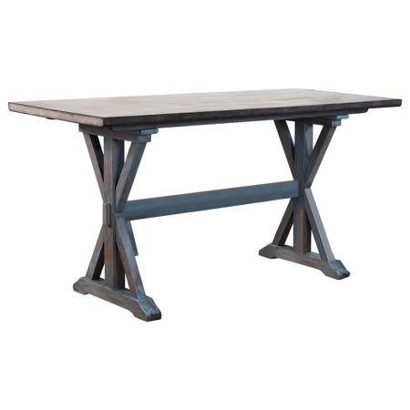 Kris Counter Height Kitchen Dining Table Distressed Gray Washed