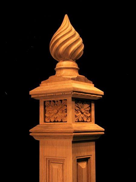 Best Spiral Finial Newel Post Newel Posts Finials Carving 640 x 480