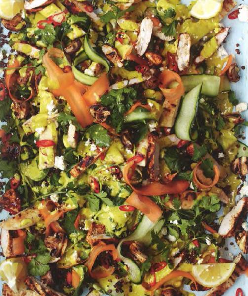 Chicken Tikka Lentil Spinach Naan Salad From Jamie Oliver S 15 Minute Meals Indian Salads Lentil Salad Recipes Jamie Oliver Recipes