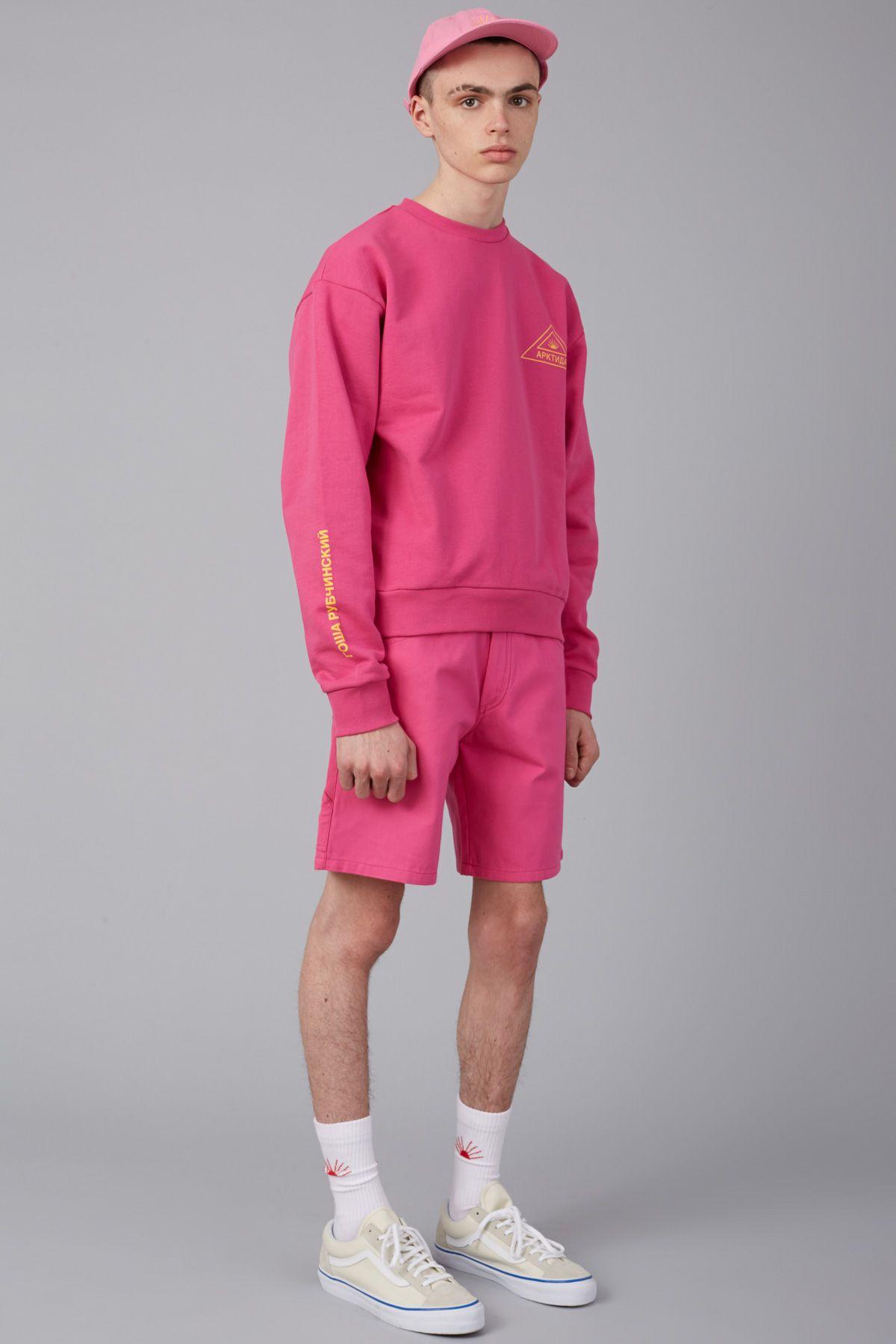 Gosha Rubchinskiy Printed Sleeve Sweatshirt - MEN - Tops - Gosha Rubchinskiy - OPENING CEREMONY  | menswear streetwear skater