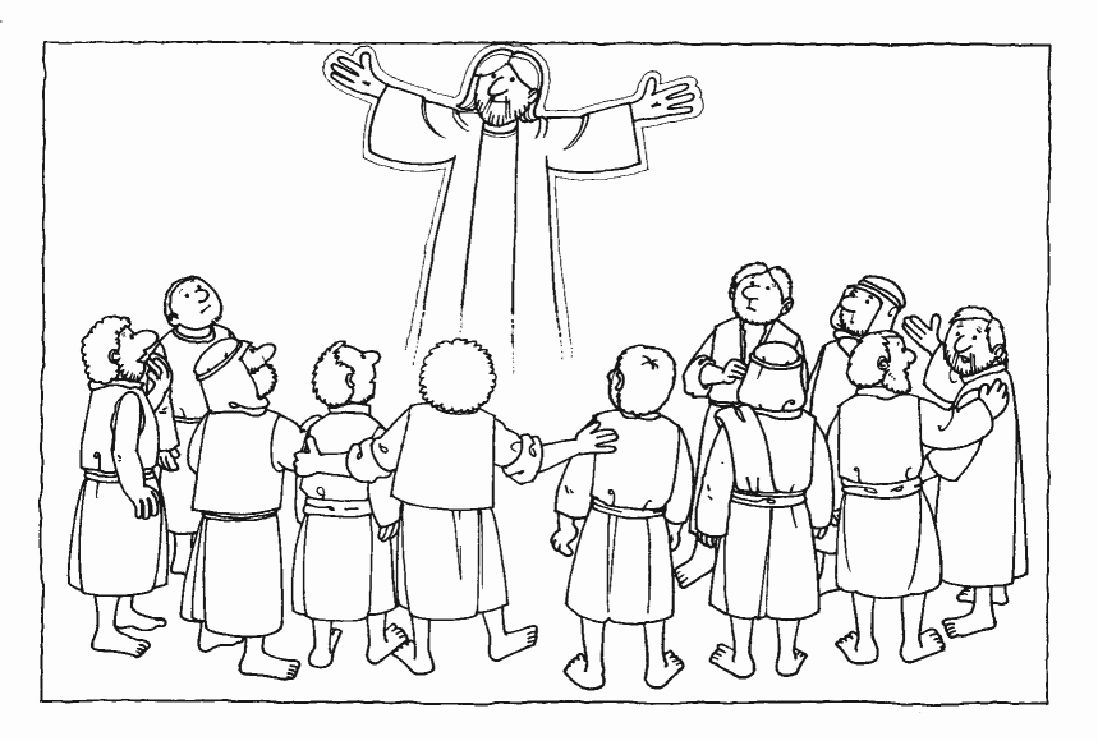 Jesus Ascension Into Heaven Coloring Pages Google Search