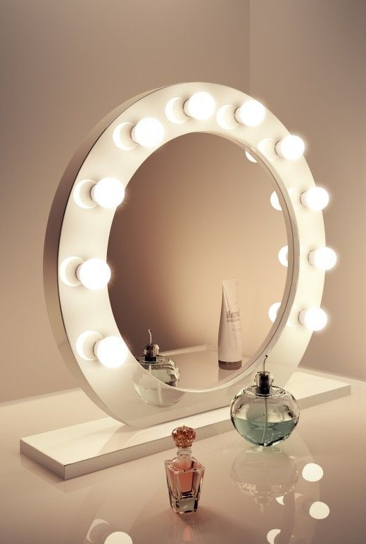 Round Vanity Mirror  Bulbs Vanities and Makeup rooms