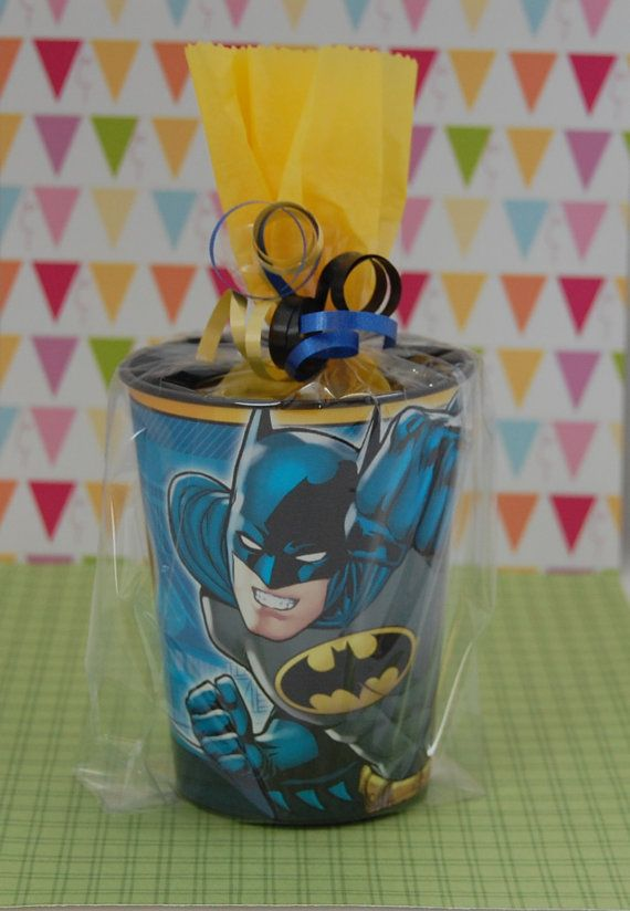 NEW Batman Birthday Party Filled Goodie Bags By SweetPartyGoodies Superhero