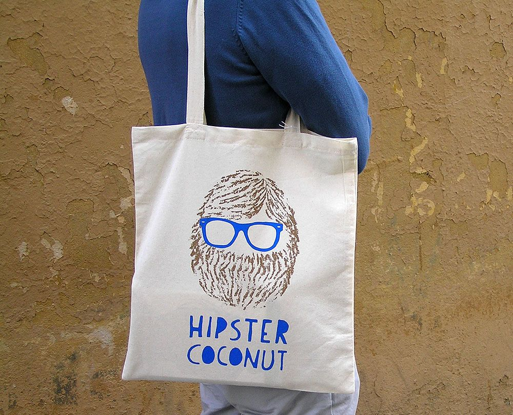Hipster coconut tote bag by Olula